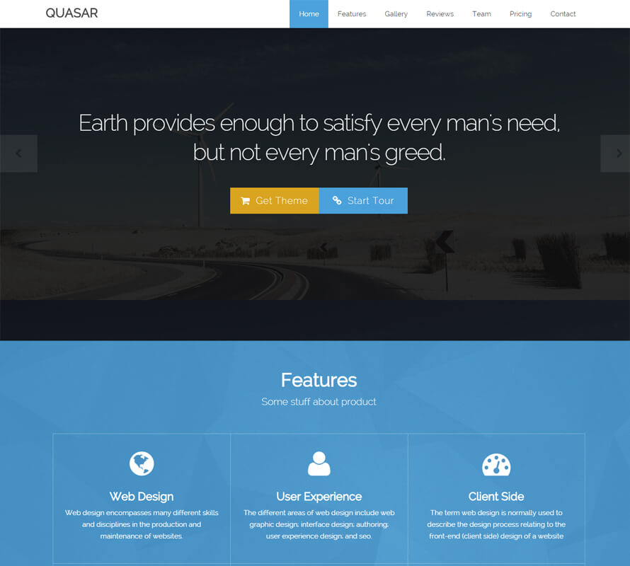 Quasar free bootstrap theme for How to use bootstrap templates